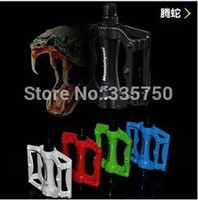 aluminum bicyle - 1Pair Professional Bike Cycle Bicyle Mountain Bearing Flat Platform Pedals Pedal Black White blue red green bicycle accessories