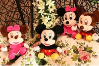 Wholesale pairs pink Lovely Stuffed Animal Mickey Mouse And Minnie doll plush toys for girls and boys Anime Comics Toys