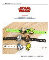 Cheap STAR WARS silicone bracelet toy doll bracelets Adjustable wrist band bracelet with the doll 3*21cm