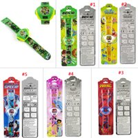 Wholesale Cartoon Force Pattern Plastic Kid s Girl s and boy s Digital Projector Watch