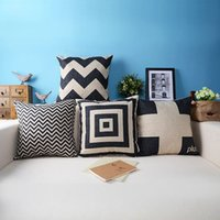 accent pillows - 18 quot IKEA hight quality decorative cushion cover set zigzag black and white pillowcase modern geometry accent pillow covers