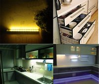 kitchen cabinet - DIY Stick on Anywhere Portable LED IR Wireless Motion Sensor Kitchen Wardrobe Closet Cabinet LED Night Light Bar Magnetic Motion tube CE