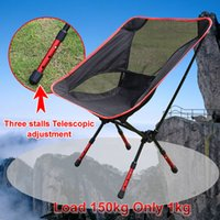 aluminium folding stool - Portable Assembled Chair Folding Ultralight Durable Aluminium Seat Stool Fishing Camping Hiking Gardening Beach Outdoor Red