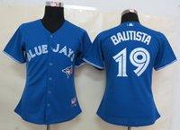 women athletic wear - Blue Jays Bautista Blue Women s Baseball jersey Athletic Outdoor Apparel Baseball Wear Allow Mix Order
