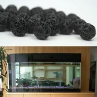 ball aquarium - Black Aquariums Accessories mm Biological Bio Balls Aquarium Pond Fish Nano Tank Wet Dry Canister Filter Media