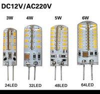 Wholesale 10Pcs SMD G4 V W W W W LED Corn Crystal lamp light DC V AC V Silicone Body LED Bulb Chandelier LED LED LED LEDs