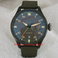 al por mayor relojes de gran tamaño-Relojes de marca de lujo de los hombres relojes automáticos mecánicos de mens la reserva de energía función de gran tamaño relojes de color verde W24