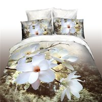Wholesale New d polyester bedding four magnolia series