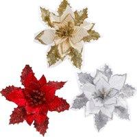 artificial xmas wreaths - cm quot Christmas Flower XMAS Artificial Flower Christmas Tree Wreath Garland Rattan ornaments decorations
