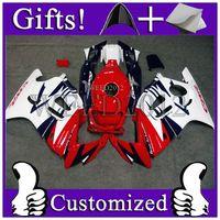 Wholesale ABS Fairing for Honda CBR600F3 White blue red fairing CBR600F3