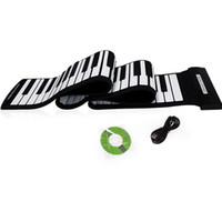 Wholesale USB Keys MIDI Roll up Electronic Piano Keyboard Silicone Flexible Professional Musical Instruments i190