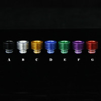 add tips - Colorful Drip Tip Adapter for to Aluminum drip tips ecig add long drip tip for EVOD Glass Subtank OCC tank