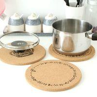 cork coasters - circular wooden roller coaster cork placemat insulation mat bowls mat medium M