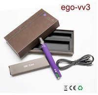 Cheap E cig Colorful Ego v v3 mod ecigarette battery High quality 1300 Mah box mod variable voltage battery with LCD