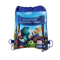 Wholesale Big hero Backpack Drawstring Handbags Minions Frozen Anna Elsa Kiddy Non Woven Fabrics String Cartoon Backpack School Swimming Bag DHL
