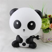 Wholesale Lovely Cartoon Desk Lamp Panda Table Lamp Panda Night Light Baby Lamps Baby Nursery Bedside LED Lamp Atmosphere Night Light Christmas Gifts