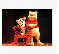 Wholesale High quality Lovely Tigger and Winnie the pooh Mascot Costume Adult Size Cartoon Mascot Animal Apparel