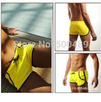 Cheap 2015 Men striped sports wear swimwear Briefs swimtrunks men bermuda shorts Patchwork swim mens Bathing Shorts swimsuit