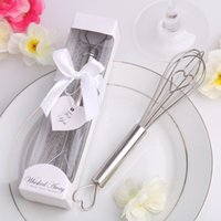 Wholesale Stainless Steel Heart Shape Hand Whisk Egg Beater party supplies wedding gifts for guests wedding favors and giftsaa