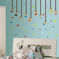 art classroom decorations - Wall Stickers for Children s Room wallpaper Nursery Classroom Home Wall decals Art Decoration Stickers Cartoon Bears Stars HDE_01A