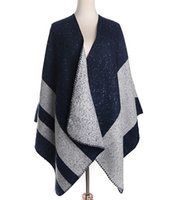 fashion ponchos for - Brushed Blanket Stitch Winter Cape For Girl Warm Poncho Shawl Vest