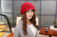 beanie hat manufacturers - 2015 Women New Korean Style Autumn Winter Arrows Knit Casual Beanie Caps W Manufacturer Hot Sale