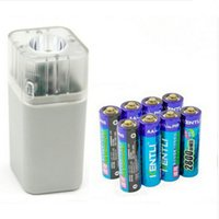 Cheap 8pcs 1.5v 2800mWh Li-polymer r lithium rechargeable AA battery + 4 slots Charger w  LED flashlight fuction