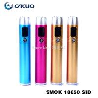 smoktech sid - 2014 Original Smok Mod SID Mod OLED Screen Rechargeable Battery Mechanical Mod E Cigarette Ego Kit Original Smoktech