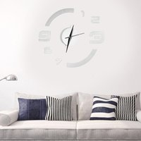 Wholesale Promotion New Modern Design DIY Wall Clock D Mirror Sticker Arabic Numbers Living Room Art Decor Removable