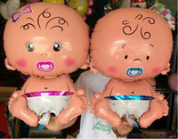 baby girl promotions - SMILE MARKET Baby boy girl Promotion Toy For Wedding Birthday Party Inflatable Foil Balloons