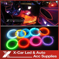 Wholesale 3Meters Flexible Neon Cold Light Glow EL Wire Strip EL Tape EL Product Electroluminescent Tape Car Decoration With V Inverter