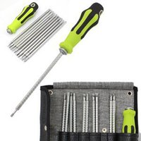 Wholesale TS New Universal Home Portable Screwdriver Tool Set Adjustable Length Handle Repair Sets Tool Kit For Sale ST