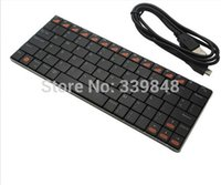Wholesale Universal mini inch Ultra thin Aluminum Bluetooth keyboard Built in battery for PC Mac Android windows tablet smartphone
