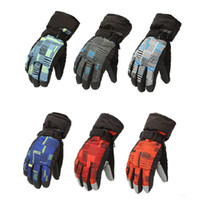 Wholesale Unisex Winter Ski Snowboard Snow Sports Windproof Thermal Waterproof Nylon Mens Womens Bike Gloves order lt no tracking