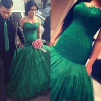 green wedding gown - Dark Green Organza Lace Fashion A line Wedding Dresses New Designer Sweetheart Glamorous Cheap Bridal Gowns Vestido De Noiva
