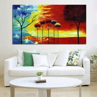 beautiful scenery pictures - Handpainted Pictures Beautiful Scenery Art on Canvas Modern Wall Stickers Decorative Oil Paintings