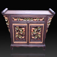 antique sideboards - Southeast Asian wood carving home Curio cabinet living room entrance cabinet TV cabinet bookcase sideboard lockers