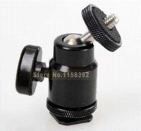 ball head camera mount - Adjustable Swivel Angle Ball head Standard Tripod Hot Shoe Mount Adapter Holder For Can amp n Nik amp n S amp ny Camera