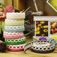 Wholesale C03 beautiful color knitting DIY decorative cloth tape glue Bulei Si lace materials