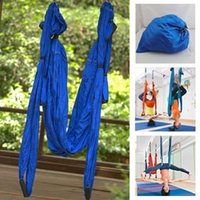 Wholesale High Strength Hammock Inversion Trapeze Anti Gravity Aerial Yoga Gym Swing Hanging Blue