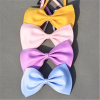 Wholesale 2016 New Pet Accessories Bowknot Pet Tie Dog Cat ties Bowknot Multicolor Optional Colorful Pet Products cm Tie JJ191