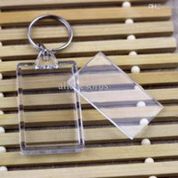 acrylic luggage tags - Blank Acrylic Rectangle Photo Keychains Insert Picture Logo Keyrings Luggage tag quot x quot