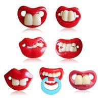 Wholesale Baby Pacifier Fun Dummy Prank Pacifier Novelty Teeth Children Lip Soother Nipple