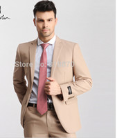 Wholesale Carpaton brand new arrival korean style suits for men wedding dress business jacket party wear khaki one buckle