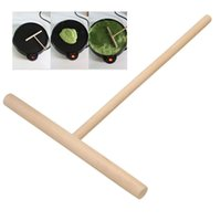 Wholesale Traditional Practical Crepe Maker Pancake Batter Wooden Spreader Stick Home Kitchen Tool Kit DIY Use