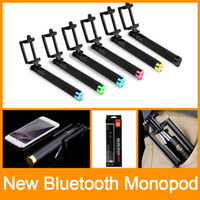 Wholesale Monopod Extendable Selfie Stick with Bluetooth Bastone Pau De Palo Selfie Stick to Self for iPhone Samsung Android Universal DHL Free