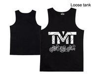Wholesale Top quality TMT Men s sportwear tank top Brand tanks cotton Undershirt Sports Vest skateboards Men hip hop tank top