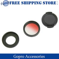 Wholesale Gopro accessories DUALANE C00855 mm Graddually Filter Lens Hood Lens Cap Kit for Gopro Hero Red