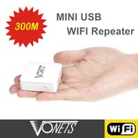 Wholesale Vonets Wireless N Mini WiFi Repeater Wi Fi wi fi Repetidor Mbps USB Port Wireless Network Bridge Signal Booster