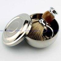badger bowl - Luxury Pure Badger Hair Wet Shaving Brush Mug Bowl Men Shave Razor Kit